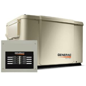 PowerPact 7.5kW Home Backup Generac Generator with 8-circuit Transfer Switch