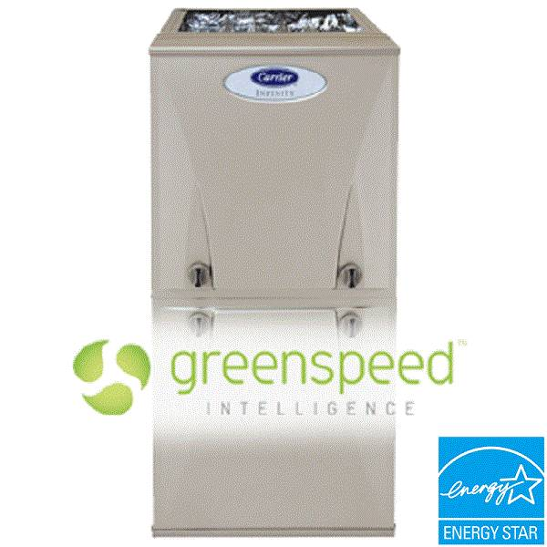 Infinity 98 Carrier 59MN7 Gas Furnace 98 5 AFUE Modulating ECM VS Blower Greenspeed Intelligence