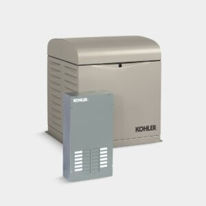 Kohler 10RESVL 10 kW Generator – Single Phase, LPG|Natural Gas, with Automatic Transfer Switch and OnCue Plus