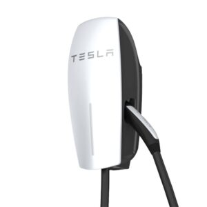 Tesla Gloss Silver Wall Connector (Gen 2) Electric Vehicle (EV) Charger System